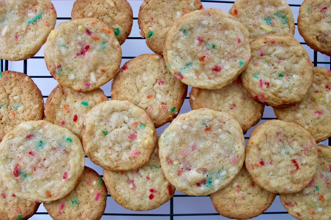 Cluster of cookies sitting on a cooling tray.jpg
