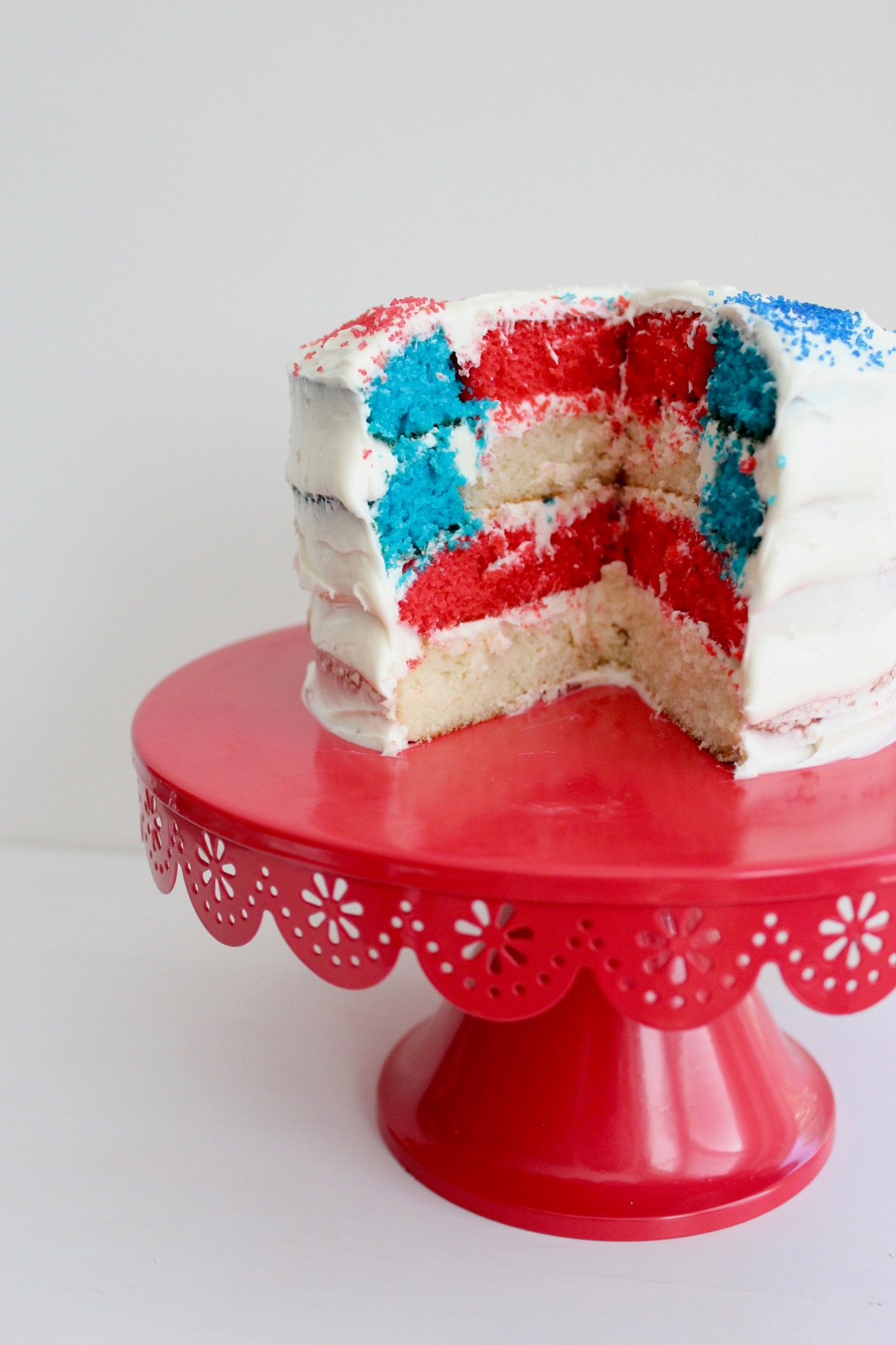 Flag cake on a cake stand.jpg